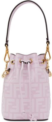 Fendi Purple Mini Forever Mon Tresor Bucket Bag