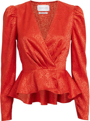 Saylor Easton Satin Jacquard Blouse