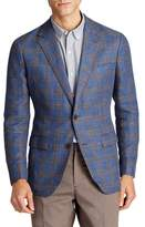 Bonobos Slim Fit Plaid Linen Blend Unconstructed Blazer