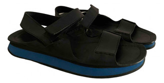 Prada Black Leather Sandals