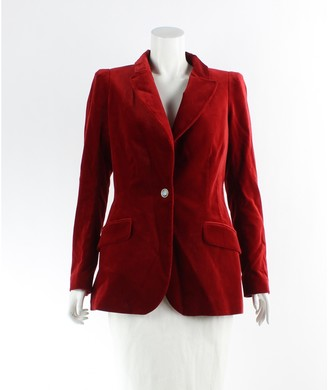 Temperley London Red Velvet Jacket for Women