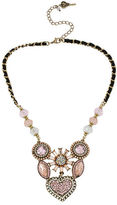 Betsey Johnson Crystallized Vintage Heart Six-Piece Necklace