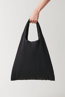 Cos Pleated Fabric Shopper