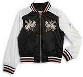 Urban Republic Girls 7-16 Girls Embroidered Bomber Jacket