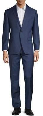 Lauren Ralph Lauren Classic-Fit Ultra-Flex Windowpane Wool-Blend Suit