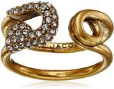 Marc Jacobs Charms Pave Safety Pin Ring