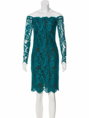 Emilio Pucci Lace Pattern Mini Dress Green