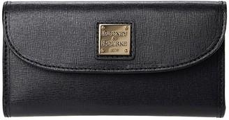 Dooney & Bourke Saffiano Continental Clutch (Black) Handbags