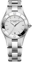 Baume & Mercier Women's Swiss Linea Stainless Steel Bracelet Watch with Interchangeable Black Satin Strap 32mm M0A10070