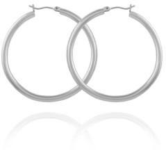 T Tahari Women's Polished Tube Hoop Earring