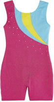 Jacques Moret Jacques Mort Sleeveless Rainbow Stars Solid Biketard - Girls