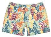 River Island Mens Big and Tall orange palm short swim shorts