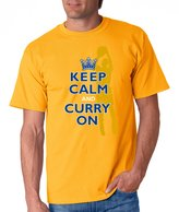Blue Box Printing en State Warriors Fans. Keep Calm and Curry On. T-Shirt (Sm-5X)