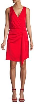 Ava & Aiden Sleeveless Faux Wrap Dress