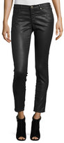AG Jeans Vintage Leatherette Ankle Leggings, Bordeaux Brown