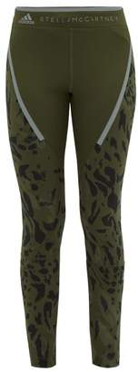 adidas by Stella McCartney Run Leopard Print Leggings - Womens - Khaki