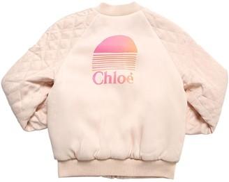 Chloé Reversible Viscose Satin Puffer Jacket