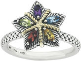 JCPenney FINE JEWELRY Personally Stackable Multi-Gemstone Star Two-Tone Ring