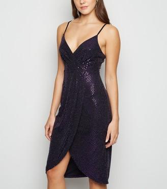 New Look Blue Vanilla lic Cami Wrap Dress
