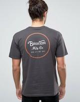 Brixton Wheeler T-shirt With Logo Back Print