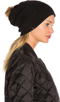 Plush Fleece-Lined Faux Fur Pom Pom Hat