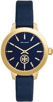 Tory Burch COLLINS WATCH, NAVY LEATHER/STAINLESS STEEL, 38MM