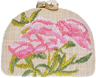 Rafe Ariella Embroidered Flower Clutch Bag