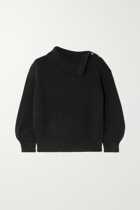 Co Wool And Cashmere-blend Sweater - Black