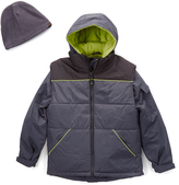 Hawke & Co Sharkskin Gray Puffer Vest Set - Boys