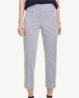 Ann Taylor Tall Kate Seersucker Crop Pants