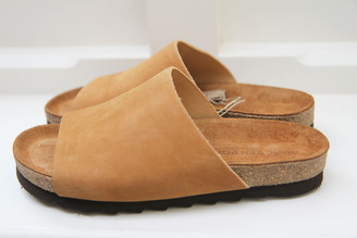 Ten Points AB - Caramel Vivienne Sandal - Vegetable Tanned Nubuck - 36   leather - Caramel