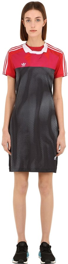 Thumbnail for your product : Adidas Originals By Alexander Wang Printed Tech Mini Dress
