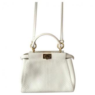 Fendi Peekaboo White Python Handbags