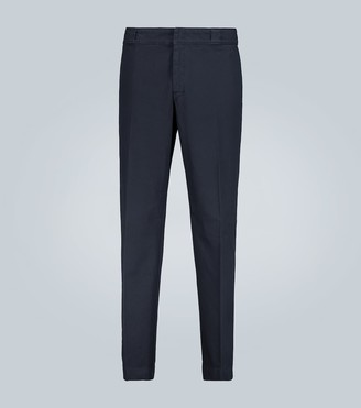 Prada Stretch-cotton pants with logo