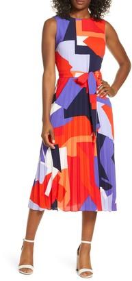Donna Ricco Sleeveless Fit & Flare Midi Dress