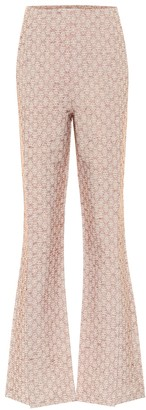 Acne Studios Cotton-blend jacquard flared pants