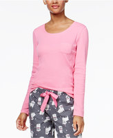 Jenni by Jennifer Moore Ribbed Pajama T-Shirt, Only at Macy's