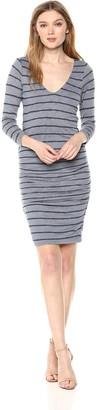 Velvet by Graham & Spencer Women's Briya Stripe Textured 3/4 Sleeve Dress