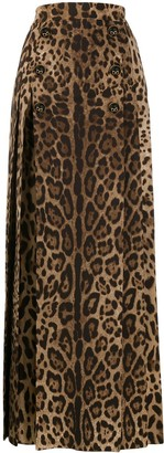 Dolce & Gabbana Full Leopard Print Skirt