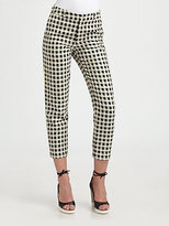 Danny Cropped Check-Print Pants