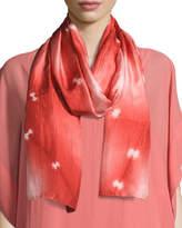 Eileen Fisher Convergence Shibori Silk Scarf