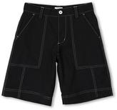 adidas Kids - Fashion Performance Contrast Stitched Short (Big Kids) (Black/Chrome) - Apparel