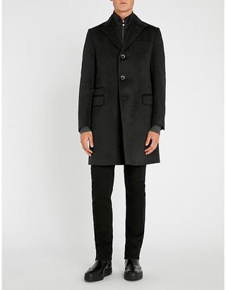 Corneliani Men's Navy Blue Identity Wool Overcoat, Size: 40
