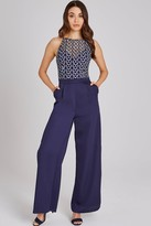 Little Mistress Connie Navy Geo-Lace Jumpsuit