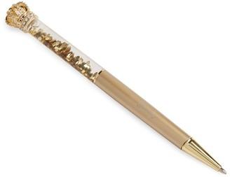 Harrods Glitter Crown Pen
