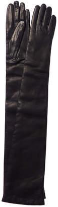 Portolano Leather Cashmere-Lined Long Glove