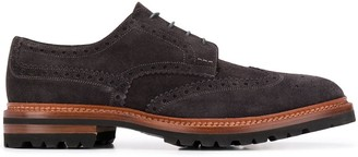 Kiton Lace-Up Suede Brogues