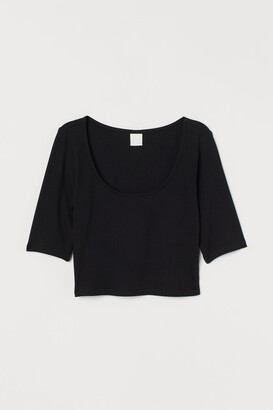 H&M Ribbed Cropped Top