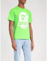 A Bathing Ape Black Logo Print Bmx 01 Cotton-jersey T-shirt