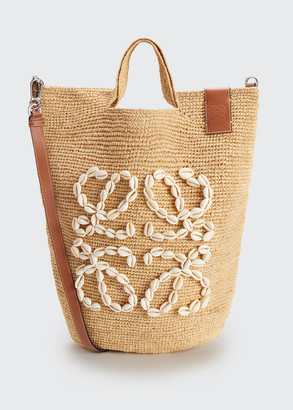 Loewe x Paula's Ibiza Seashell Raffia Large Beach Tote Bag